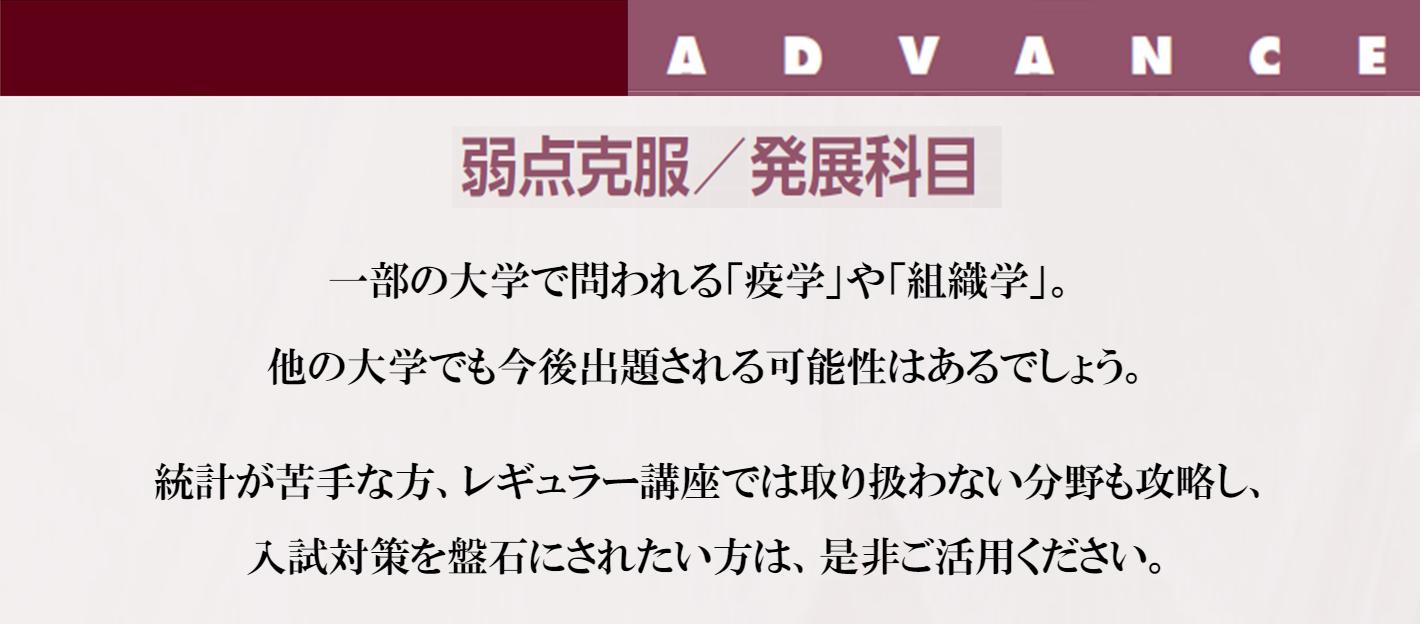 Advanced~弱点克服・発展科目