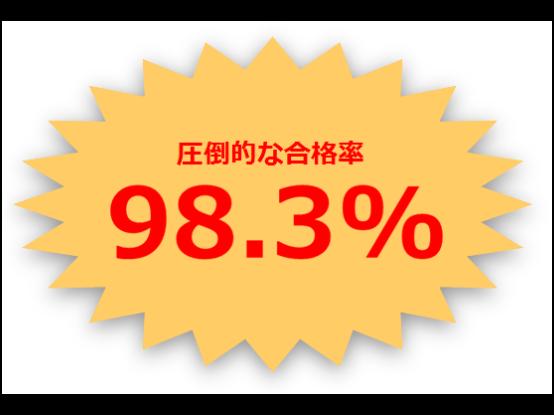 カレッジコースの合格率は98.3%