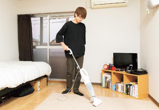 部屋は常に清潔をキープ