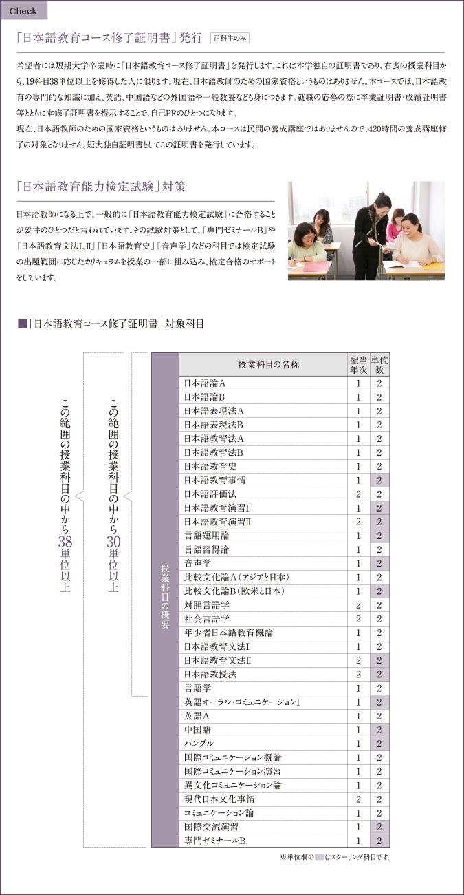 「日本語教育コース修了証明書」発行