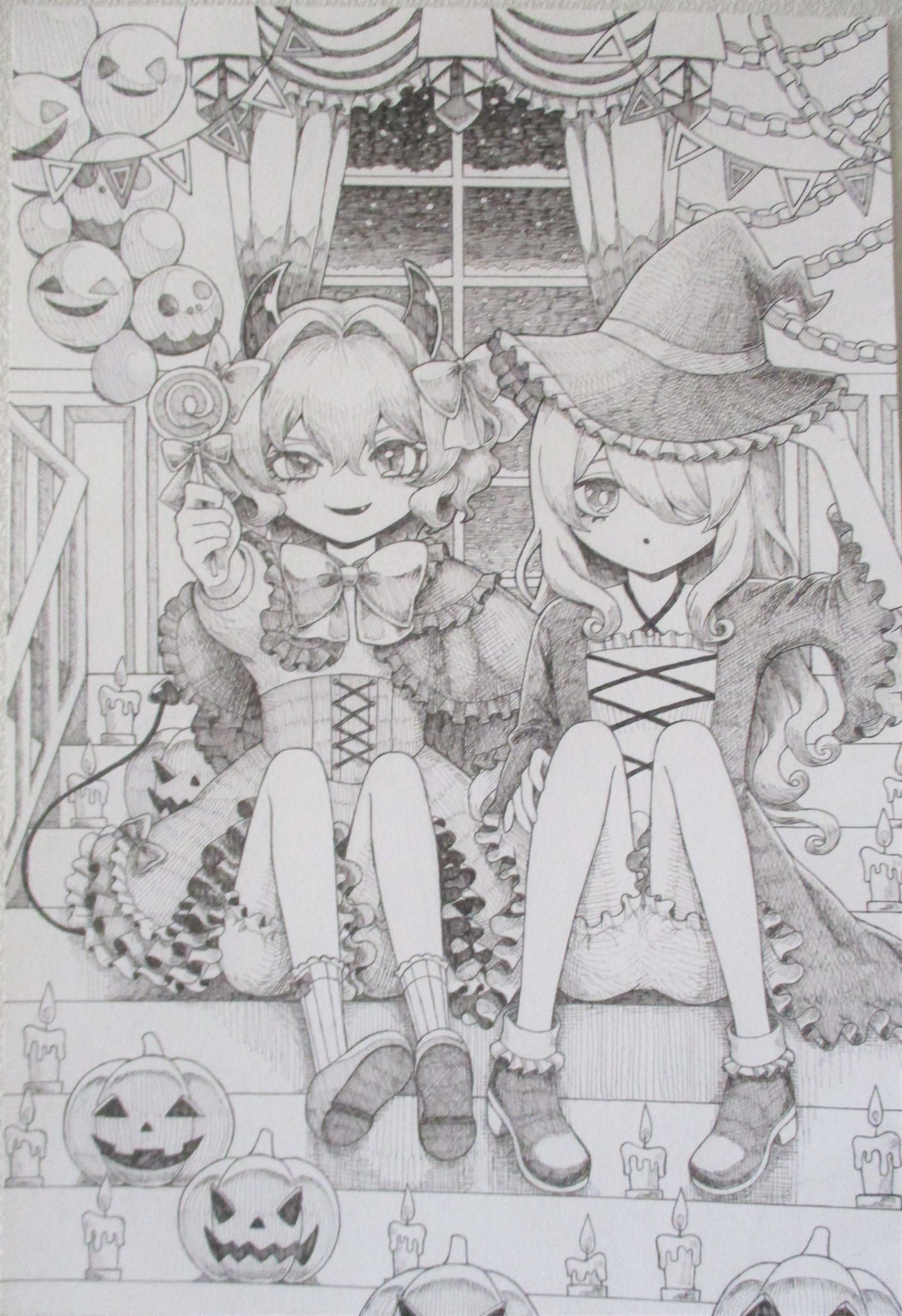 『雪夜のハロウィンパーティー』
