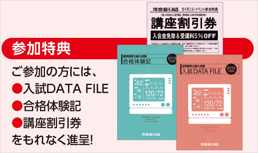 入試DATA FILE、合格体験記、講座割引券