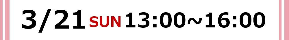 2021/3/21(日)13:00~16:00