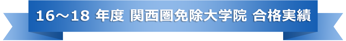 16~18 年度 関西圏免除大学院 合格実績